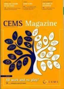Yoga coaching for CEMS Magazine